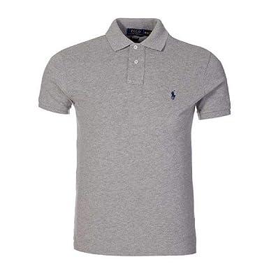 Ralph Lauren Men s Polo Shirt Slim Custom Fit White  Amazon.fr  Vêtements  et accessoires 2bc132d86fc