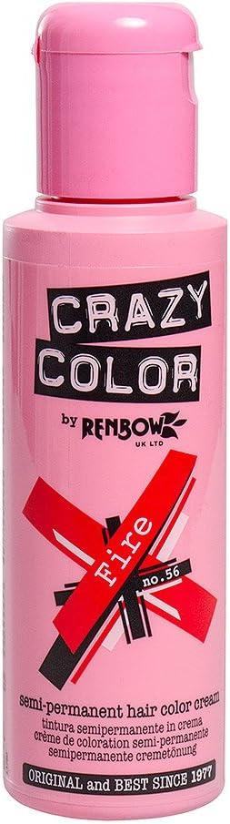 Tinte capilar semi-permanente de Crazy Color 100ml (Fire Red - rojo fuego)