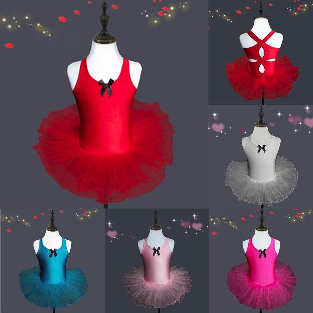 Harpily Ragazza Vestito Tutu Balletto Bambini Danza Usura Body Ginnastica Abbigliamento Bambini Gonna Tulle Ballet