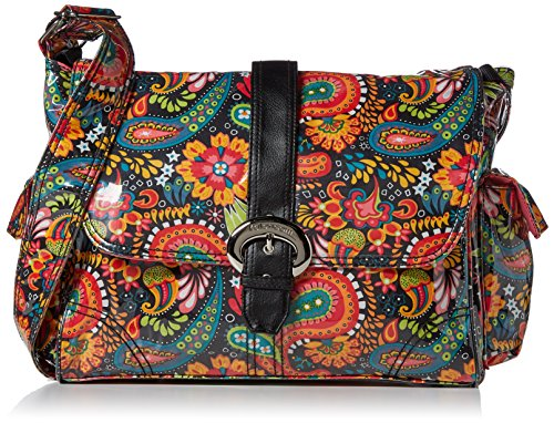 Kalencom Laminated Buckle Bag, Mango Paisley