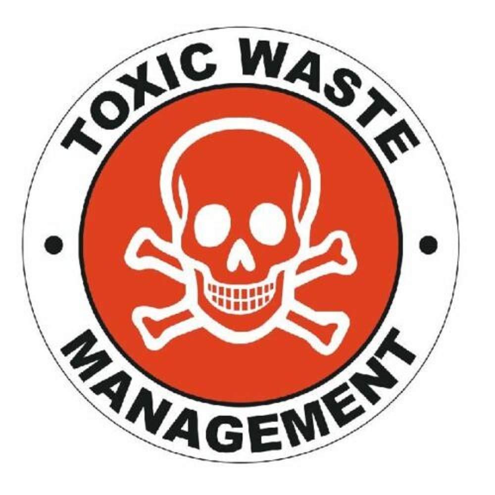 manda_ol 100 Pack 2'' inches Toxic Waste Hard Hat Decal Hardhat Sticker Helmet Label