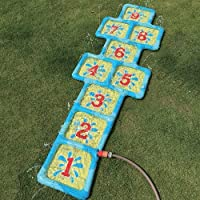 Speelgoed Aufblasbare Hüpfzahlen Hickelkasten mit Wasseranschluss