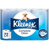 Kleenex Toilet Tissue Complete Clean Toilet Paper (Pack of 72)