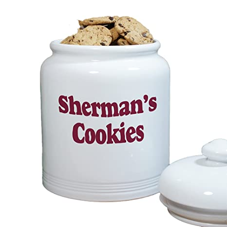 amazon com any message personalized ceramic cookie jar 10 air