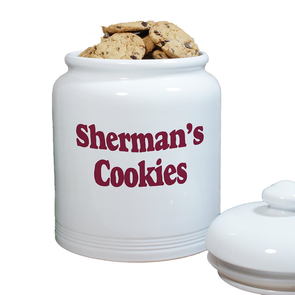Any Message Personalized Ceramic Cookie Jar, 10'', Air-Tight Ceramic Lid