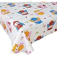 Mantel Hule Buho Marrón · Mantel Antimanchas Resistente y Lavable · Mantel Mesa Rectangular en PVC · Hules para Mesas…