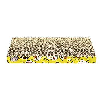 Jitong Planos Rascadores para Gatos de Carton Corrugado Impresa Camas de Mascotas Juguetes Interactivos (Caqui, 44 * 23 * 4cm): Amazon.es: Hogar