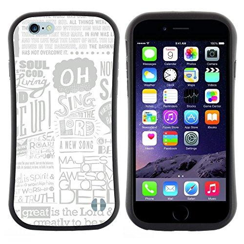 Soft TPU Skin Bumper Case Cover for Apple iPhone 6 / 6S (4.7 INCH) , Newspaper Ad Poster Art Singing Quote God ()