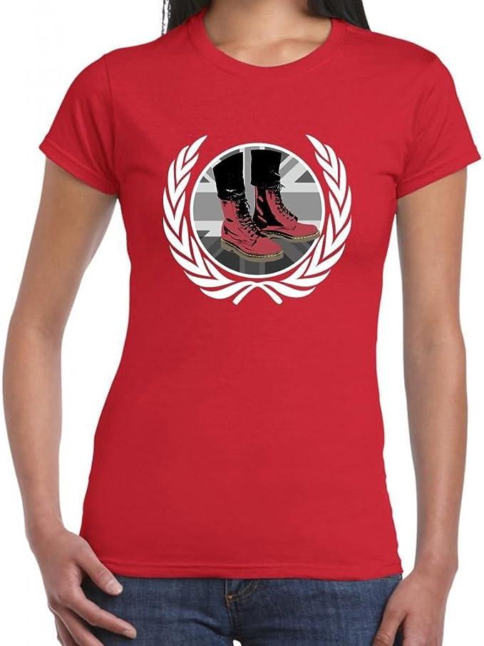 Skinhead Docs T-camiseta de manga corta para mujer: Amazon.es: Ropa y accesorios