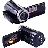 KINGEAR Puto PLD003 Mini DV C8 16MP High Definition Digital Video Camcorder DVR 2.7'' TFT LCD 16x Zoom Hd Video Recorder Camera 1280 x 720p Digital Video Camcorder(Black)
