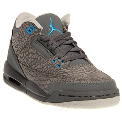 new styles 2ba6c 693be Amazon.com: Nike Girls Air Jordan 3 Retro GS III Cool Grey ...