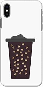 Okteq thin slim fit case for Apple Iphone x & Iphone XS - coffee mug beans by Okteq