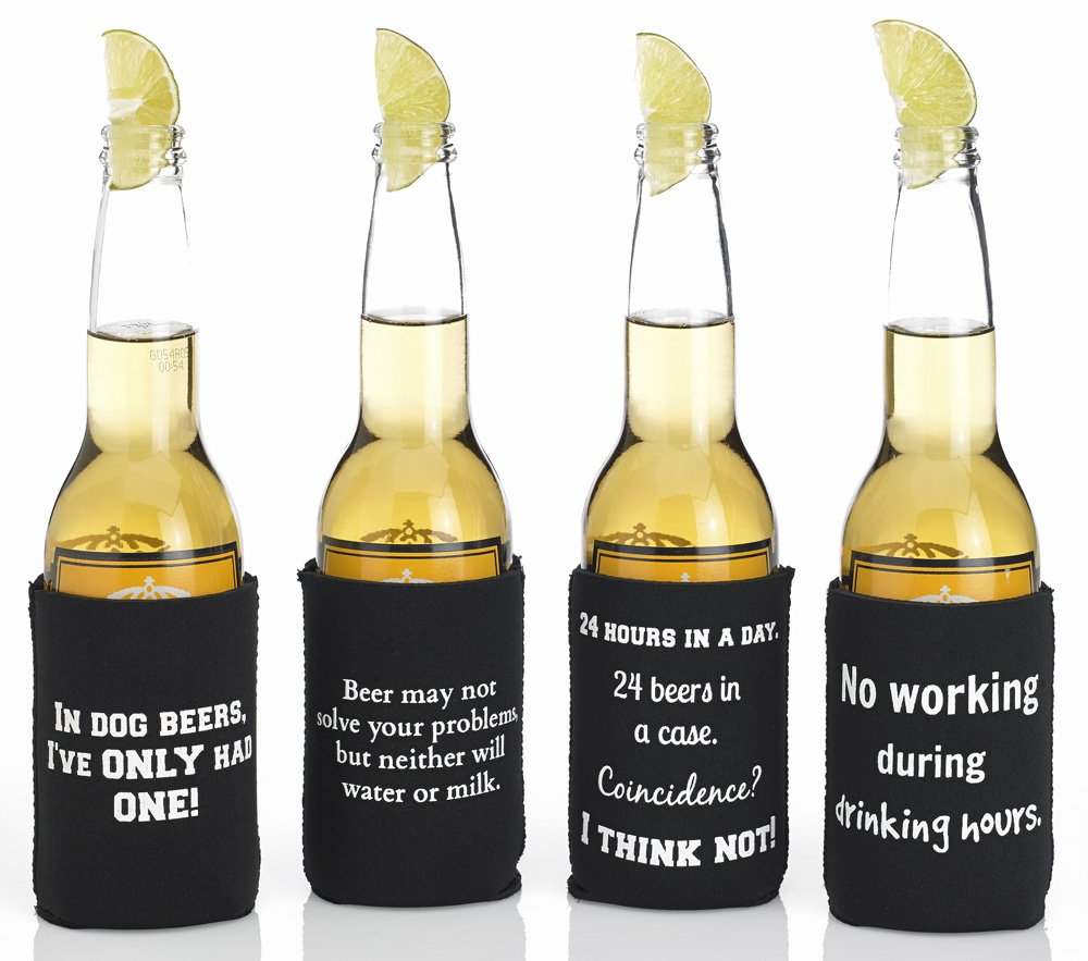 Amazon funny beer quotes cozy variety pack 1 as shown amazon funny beer quotes cozy variety pack 1 as shown collapsible neoprene can coolers gifts for beer lovers dad boyfriends housewarming publicscrutiny Image collections