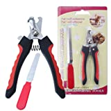 1set Pet Nail Clippers Cutter File For Dogs Cats Birds Guinea Pig Animal Claws Scissor Cut Set Kit
