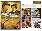 TCM The Dirty Dozen / Where Eagles Dare / Battleground / Kelly's Heroes + Battle of the Bulge Military War Action Classic Films Movie Bundle