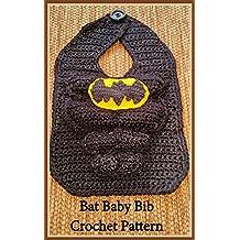 Bat Baby Bib Crochet Pattern