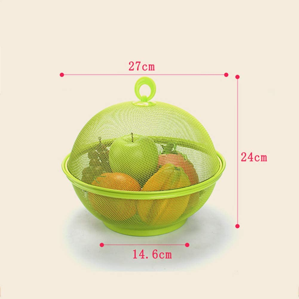 Dining Table Decoration Collecting Box Brownrolly Apple Shape Mesh Iron Fruit Basket Kitchen Countertop Fruit Bowl Vegetable Holder with Cover