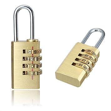 MAXGOODS 2 x Candados de Seguridad Dígitos Combinación Código Secreto Cerradura para Puertas, Archivadores, Maleta de Equipaje, Casillero: Amazon.es: ...
