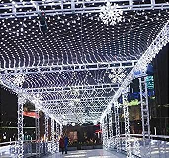 LUCKY CLOVER-A String Net Fairy Lights 810 meter 2600 Leds 8 Modes Business Waterproof Christmas Halloween Wedding Ceremony Anniversary Party Lawn Shop Decoration (white)