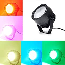 30W RGB Led Par Lights Three color COB Lamp beads+ RF Remote (without battery)