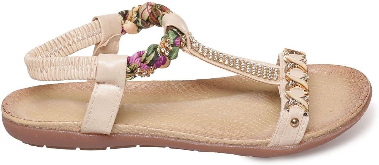 La Modeuse Sandales Plates avec lanière Effet Foulard