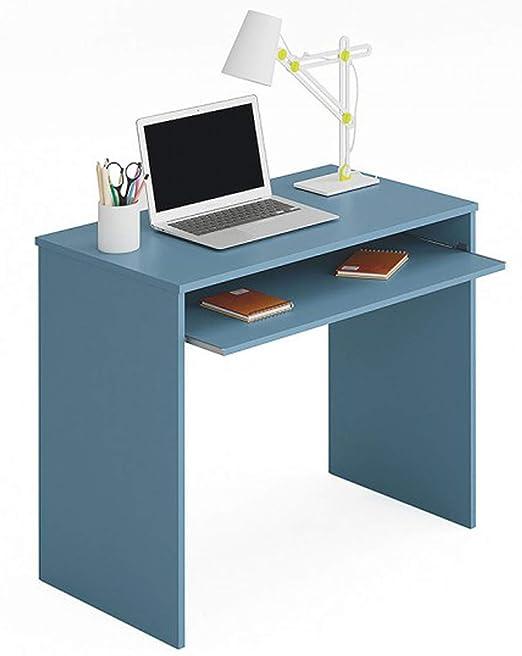 PEGANE Mesa Escritorio para Ordenador Stratis Azul – Dim: 79 x 90 ...