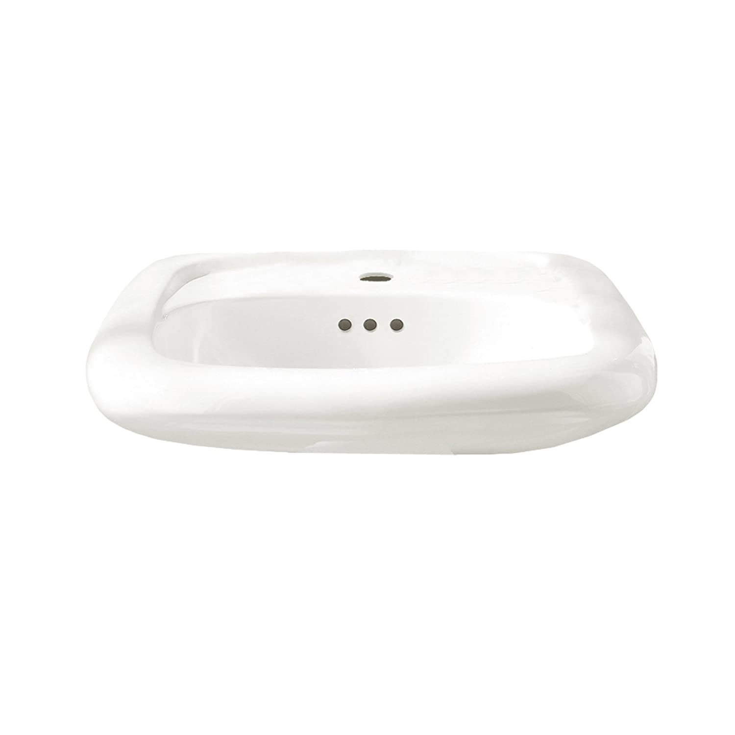 American Standard 2393202ICH.020 Princeton Americast Above-Floor Rough-In Bathtub with Right Drain and Built-In Overflow, 60 in x 30 in, White