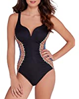 Miraclesuit Women's Zip Drive Temptress Sweetheart One Piece Swimsuit