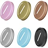 HinLot Pack of 6 Colored Coin Slot Lids for Regular Mouth Mason Jars & Piggy Banks (Assorted)
