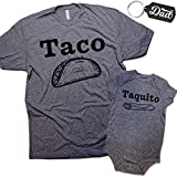 #9: Daft Baby Taco & Taquito Dad & Baby Matching Clothing Set Shirt & Onesie