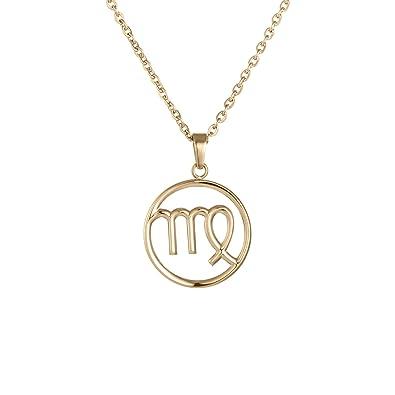 Amazon.com: Símbolo del signo Virgo Collar con Colgante ...