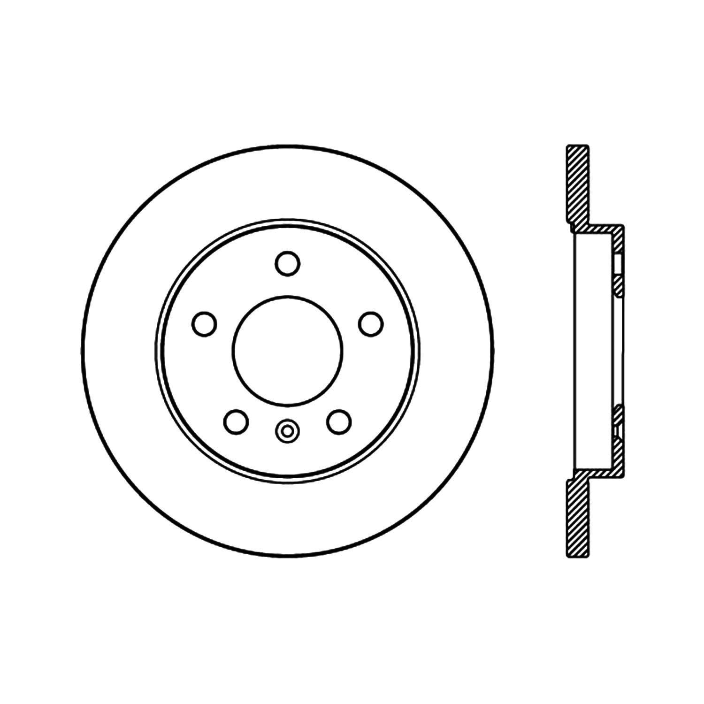 Centric 120.62129 Disc Brake Rotor