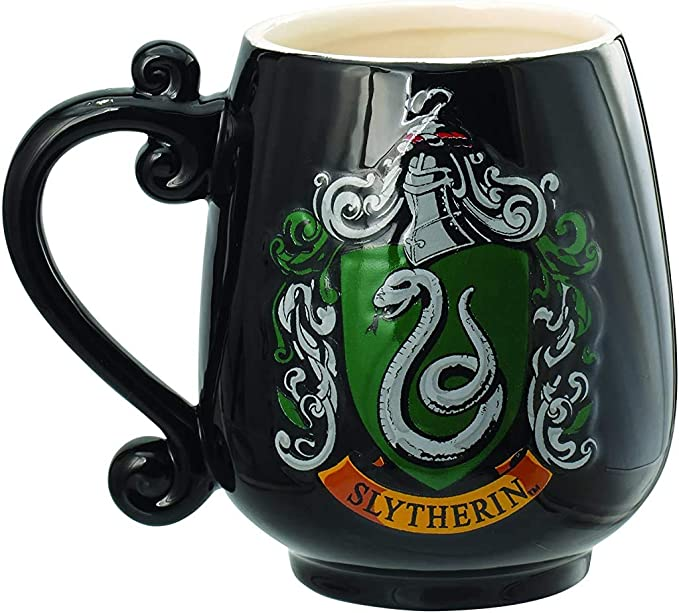 Harry Potter Slytherin Painted Crest Novelty Collectible Demitasse Tea Coffee Spoon