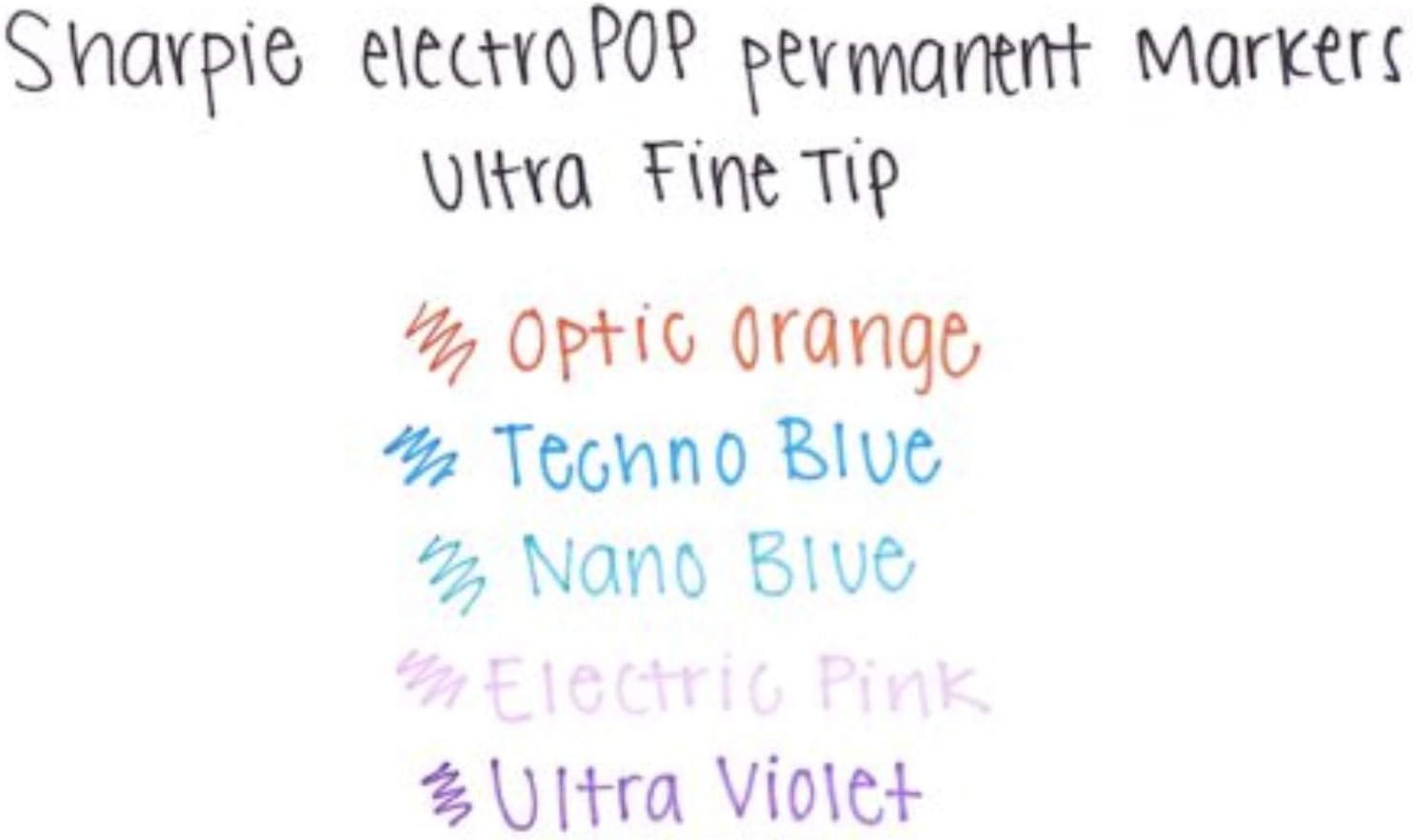 Ultra-Fine Point 6 Pack Black Pink Sharpie Permanent Marker