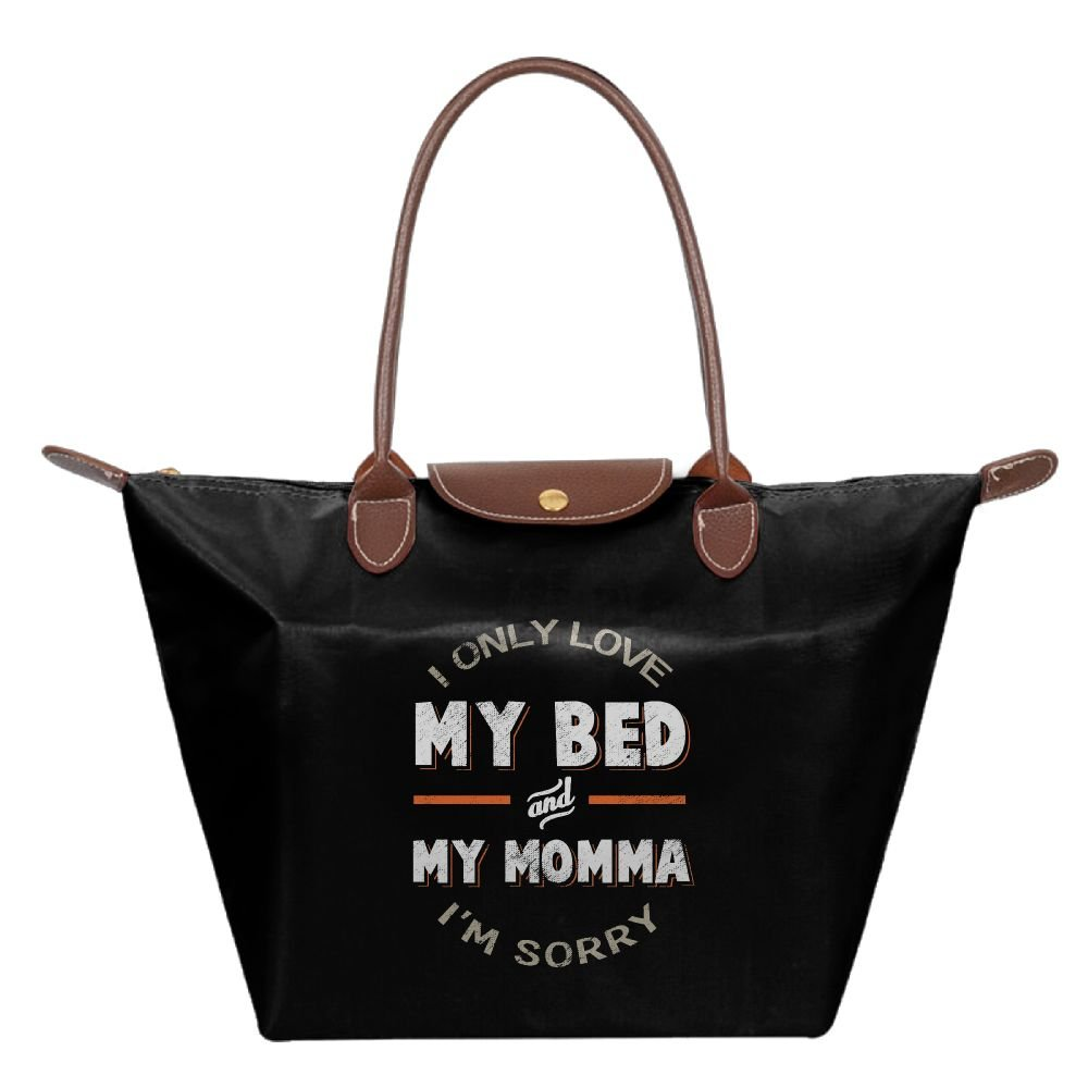 Adwelirhfwer Unisex Only Love My Bed And My Momma I'm Sorry Baby Bag Black
