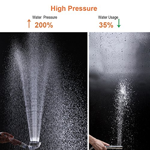 Hestia 3-Setting High Pressure Shower Head with Hose, Shower Arm Mount, Filter, Tape, Hand Shower