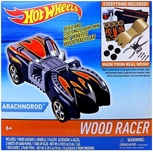 (Tara Toys Hot Wheels Wood Racer Arachnorod Vehicle, One Size)