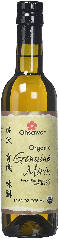 OHSAWA Genuine Mirin Sweet Rice Seasoning With Sea Salt Organic, 12.68 Fl Oz | Pack of 6