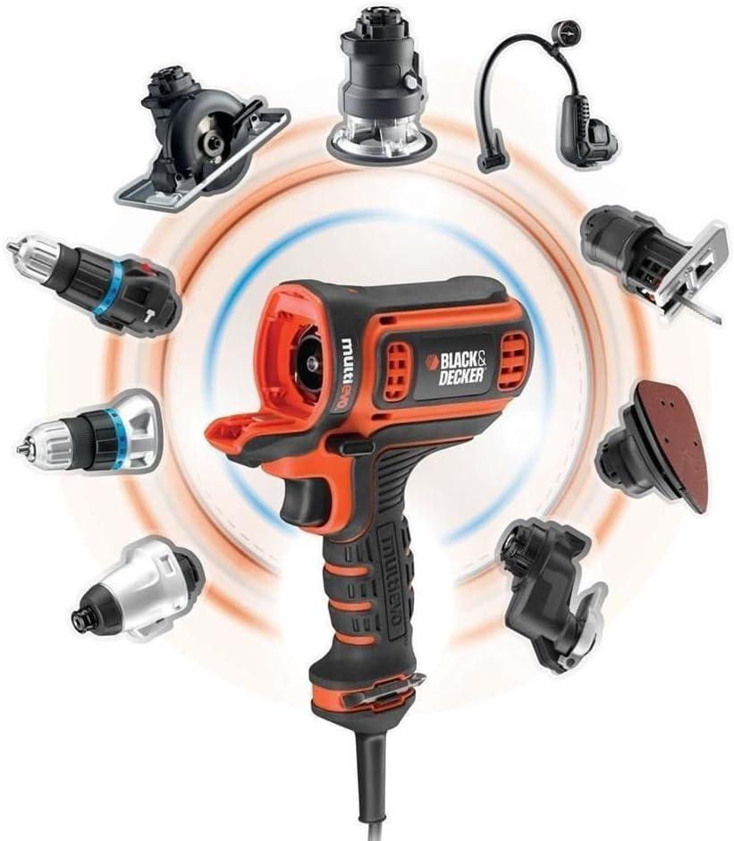 Black Decker Multievo Elektro Multifunktionswerkzeug Einstiegsset 300 W Werkzeugloser Kopfwechsel 10 Drehmomentstufen Inkl Koffer Mt350k Baumarkt