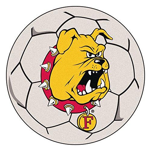 (NCAA Ferris State University Bulldogs Soccer Ball Mat Round Area)