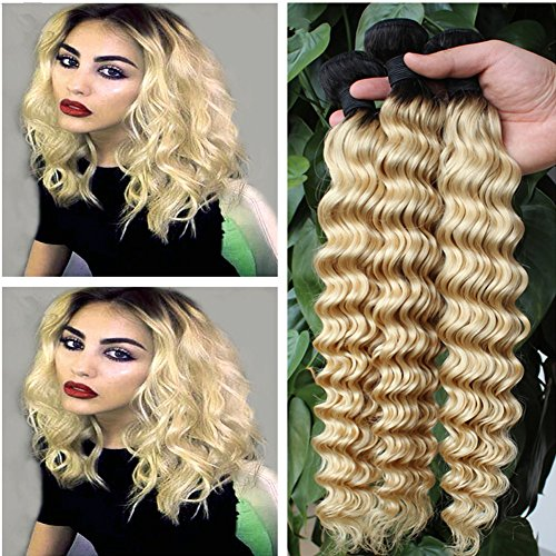 Ruma Hair Two Tone Colored 1B/613 Platinum Blonde Dark Roots