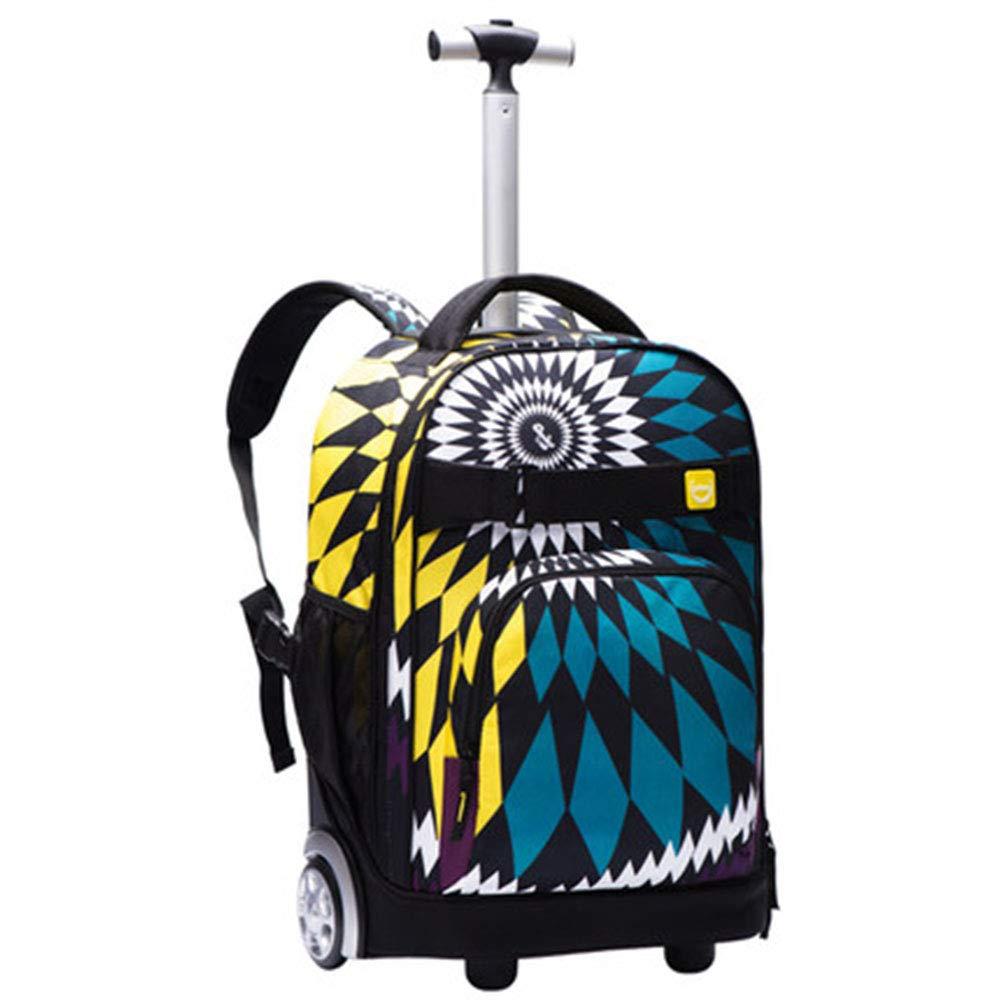 ローリング荷物学生バックパック男性女性旅行バッグ子供キャリー付きスーツケーストロリーバックパックラップトップバックパック B07MKGKZHS A