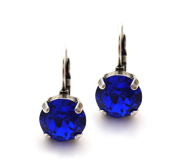 Amazon.com: Swarovski Crystal Earrings, 10mm (45ss) Chatons ...