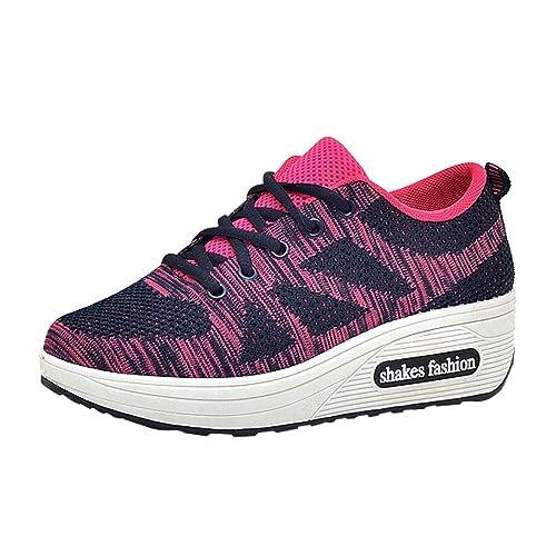 Zapatillas de Exterior Running Antideslizante para Mujer Otoño Invierno 2018 Moda Casual Zapatos de Plataforma cuña Dama PAOLIAN Cómodo Calzado Señora ...