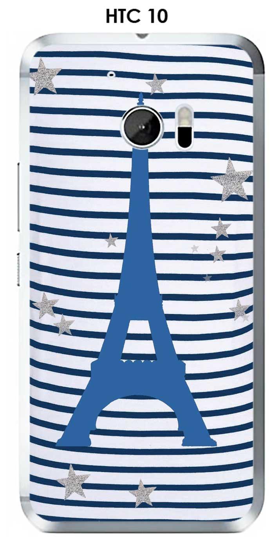 Carcasa HTC 10 Design Paris-8 Torre Azul sobre fondo ...
