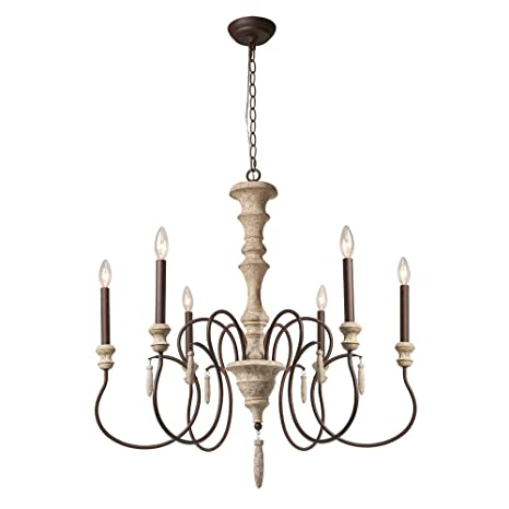 Amazon.com: Laluz 6-Light Country Chandelier Lighting ...