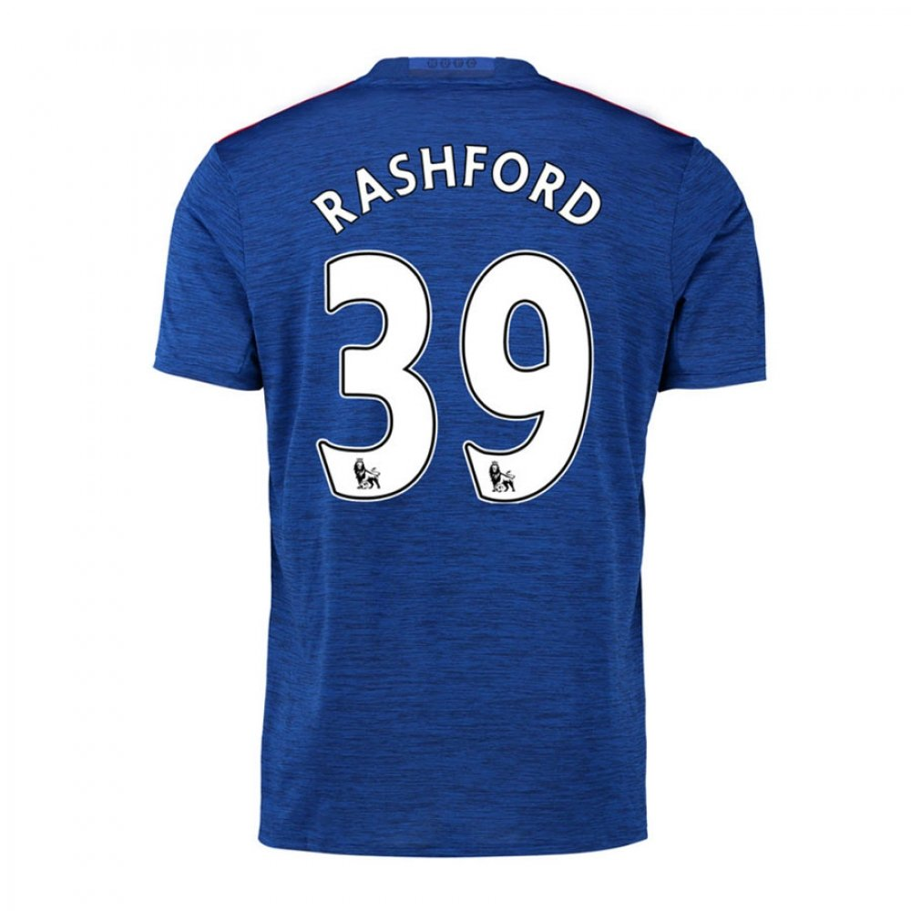 2016-17 Manchester United Away Football Soccer T-Shirt Trikot (Marcus Rashford 39) - Kids