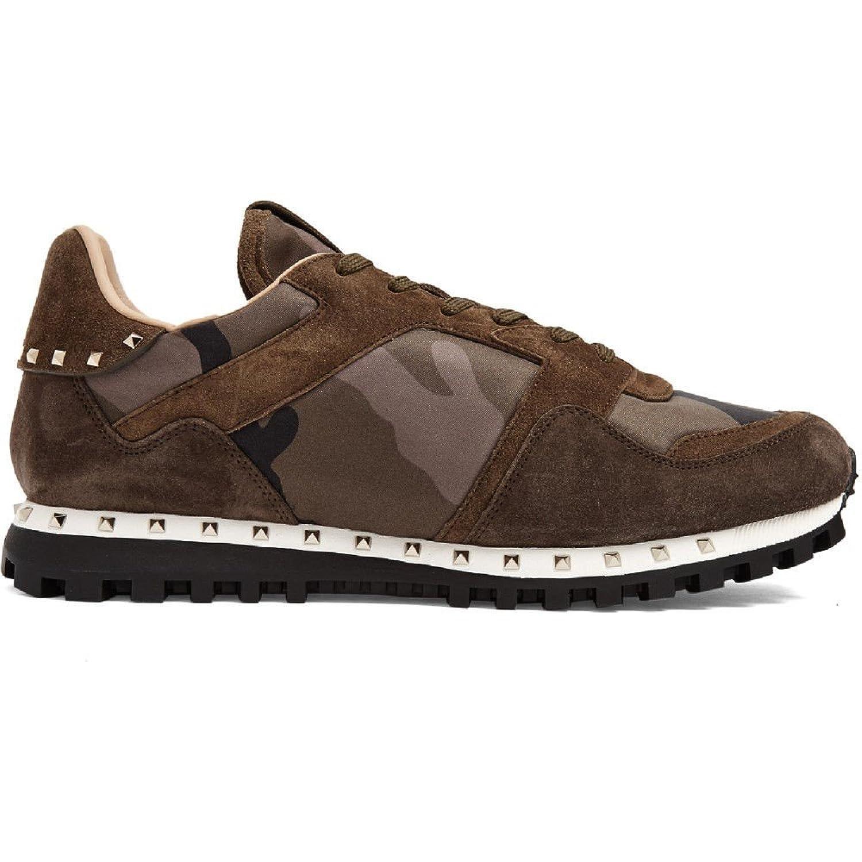 (ヴァレンティノ) Valentino メンズ シューズ靴 スニーカー Rockrunner Camouflage-print trainers 並行輸入品 B074SL8991