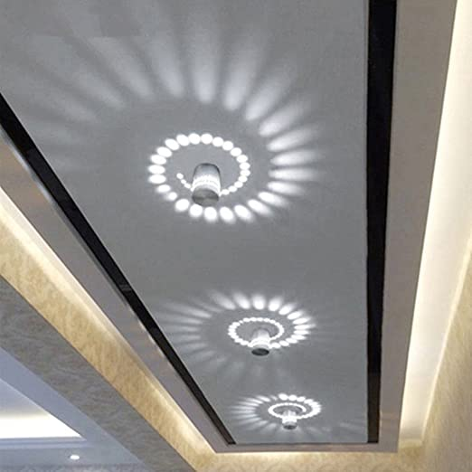 3W Spiral LED Wall Light Leagway Aluminum Sconce Ceiling Light Aisle Bedroom Vestibule Foyer Cafe Corridor LED Lamp AC85-265V Creative Indoor Wall Decoration Light Lighting Cold White