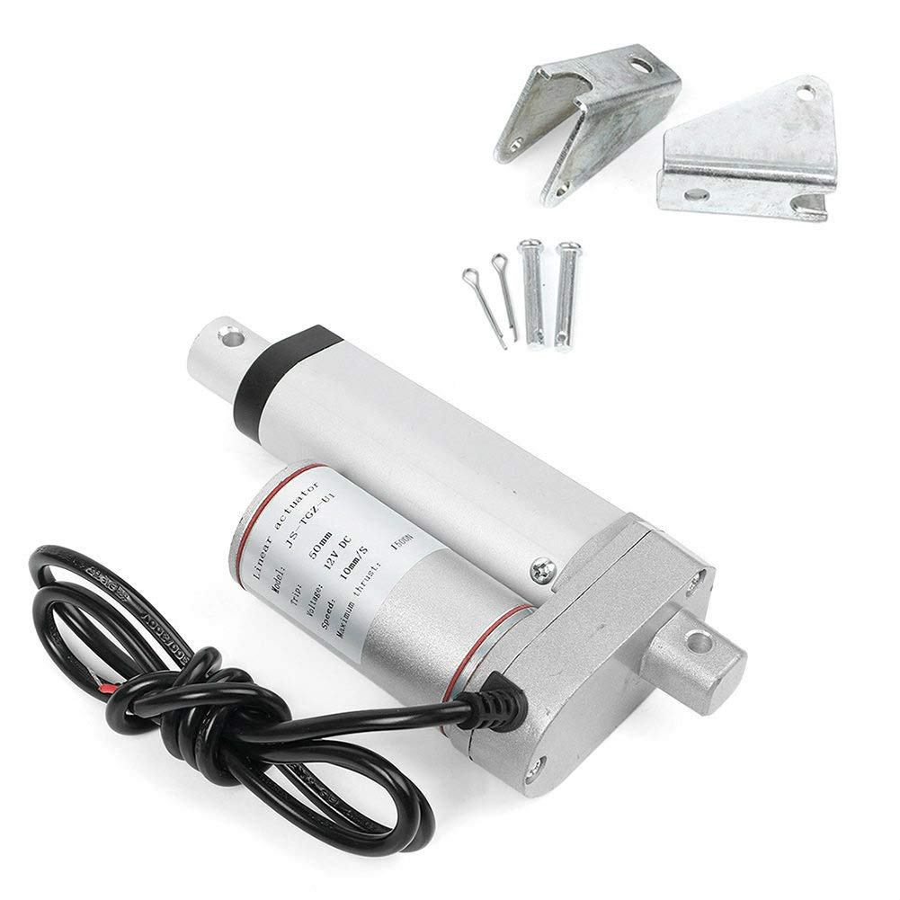 """2/""""-18/"""" Inch Stroke Linear Actuator 1500N//330lbs Pound Max Lift 12V Volt DC Motor"""